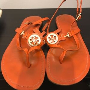 Orange Tory Burch sandals size 9.